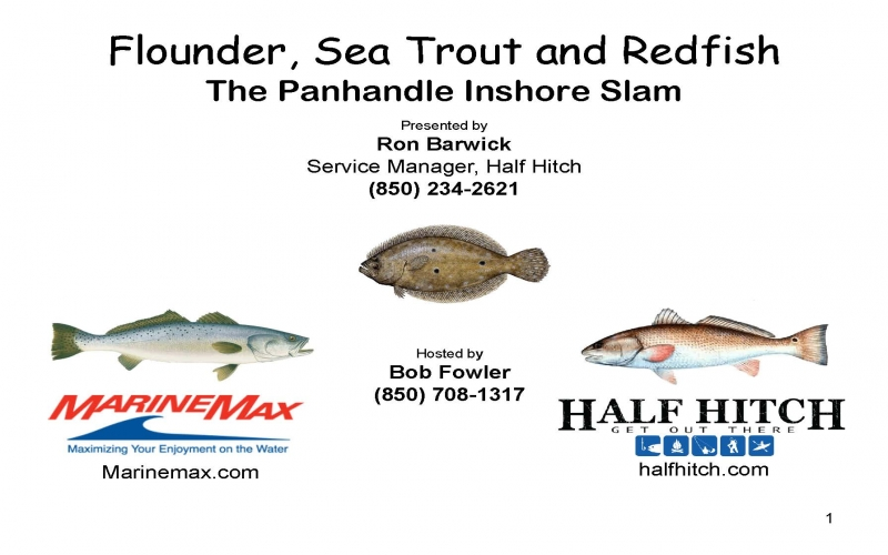 Flounder, Sea Trout, and Redfish